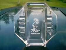 VINTAGE  TRAVELODGE 'FOR THE BEST REST EAST OR WEST' SLEEPY LOGO GLASS ASHTRAY