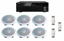 HOME AUDIO SOUND SYSTEM- FLUSH IN-CEILING SPEAKERS & VOL CONTROLS FOR 3+ ROOMS