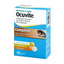3x Bausch + Lomb Ocuvite Completo Eye Supplemento DHA,Luteina,& Zinco 60 Capsule