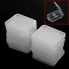 20 Pcs Plastic Clear SD SDHC Memory Card Storage Case Box Protector Holder New