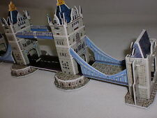 Tower Bridge Londres Reino Unido Rompecabezas 3d World's Great Architecture 4 Hoja A4 tamaño