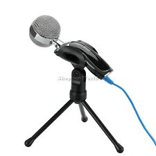 USB Audio Professional Condenser Microphone Mic Studio Sound Recording w/ Tripod
