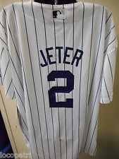 Majestic MLB Youth New York Yankees Derek Jeter Cool Base Jersey NWT $50 L