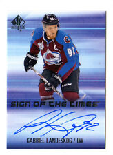 GABRIEL LANDESKOG NHL 2015-16 SP AUTHENTIC SIGN OF THE TIMES AUTO (AVALANCHE)