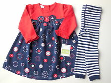 BEAUTIFUL QUALITY WINTER DRESS + TIGHTS BABY TODDLER GIRL Size 1 NEW