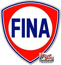 "(FINA-2) 6"" FINA  GAS PUMP GASOLINE OIL DECAL  1956-73"