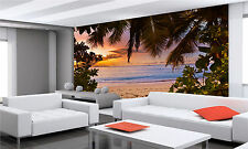 Sunset,Seychelles Wall Mural Photo Wallpaper GIANT DECOR Paper Poster Free Paste