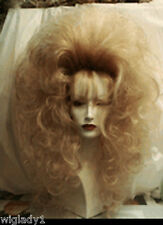 SIN CITY WIGS BLONDE BABE LONG WAVY CURLS SEXY TEASED BIG HAIR FLUFFY VOLUME 80S