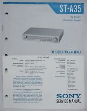 SONY ST-A35 AM/FM Tuner Original SERVICE MANUAL repair