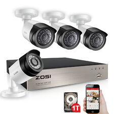 ZOSI 2MP 4CH 1080P DVR H.264 HDMI 2000TVL Caméra Système Vidéosurveillance IR 1T