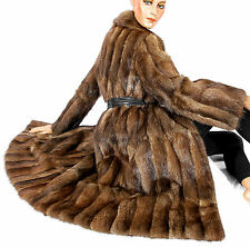 Bisam Pelzmantel Lady Style Mantel Vintage fur coat muskrat soft Fellmantel