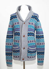 MENS THESE GLORY DAYS CARDIGAN 100 % LAMBSWOOL NORDIC FAIR ISLE SIZE M MEDIUM