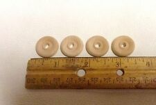 "4 Pieces 3/4"" Wood Wheel Unfinished Crafts Toys Miniatures Dollhouse"