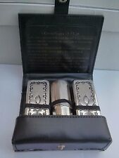 Messianic Jewish Christian Silver Portable Communion Set Jesus Meal That Heals