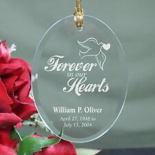 Personalized Memorial Christmas Ornament Engraved Forever In Our Hearts Ornament