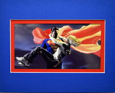 SUPERMAN To The RESCUE PRINT PROFESSIONALLY MATTED Alex Ross art
