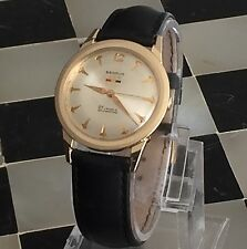 Benrus 14Kt Solid Gold 25 Jewels Self-Winding Men's Watch FE255 245