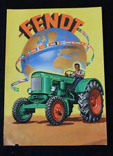 Original altes Werbe Prospekt FENDT Trecker / Traktor Schlepper 1956 (C)