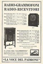 W7892 La Voce del Padrone - Listino Prezzi Grammofoni - Pubblicità del 1933 - Ad