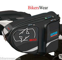 OXFORD X60 Panniers Black Lifetime Motorcycle Luggage Sports Bag 60L Storage