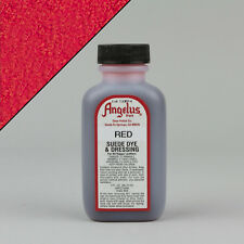 Angelus RED SUEDE DYE 3oz Bottle Industry Strength Dye Vibrant Colors