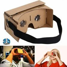 VIRTUAL REALITY GOOGLE CARDBOARD HEADSET 3D VR BOX GLASSES FOR iPHONE ANDROID