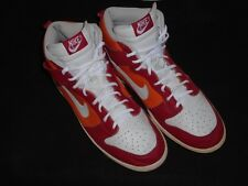 2007 NIKE DUNK HIGH HI VARSITY RED/WHITE-ORANGE BLAZE 309432-612 SIZE 13