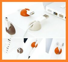 Cable drop Holder 6 piece Great for home / office Multiple Color Cable Clip