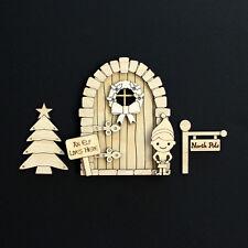 Wooden Christmas Elf Door Fairy Blank Craft Kit - Boy