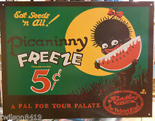 Picaninny Freeze Watermelon Black Americana Vintage Store Food Wall Tin Ad Sign