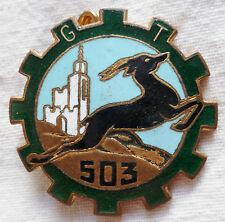 insigne 503° GROUPE DE TRANSPORT Drago AFN Guerre d'Algérie  ORIGINAL