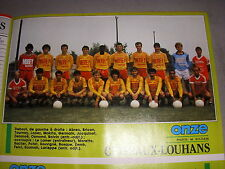 FOOTBALL COUPURE PRESSE PHOTO COULEUR 20x15 D2 GrA CUISEAUX LOUHANS 1987/88