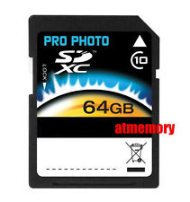 Pro Photo 64GB SDXC SD XC SDHC 64 G GB 64G Class 10 Full HD Memory Card