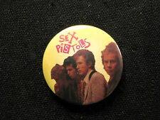 VINTAGE SEX PISTOLS BUTTON BADGE PIN GROUP UK IMPORT