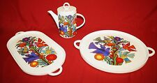 Villeroy Boch Acapulco Tea/Coffee Pot, Large Oval Tray & Round Tray Chop Plate