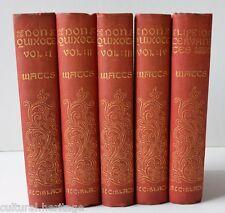DON QUIXOTE OF LA MANCHA ~MIGUEL DE CERVANTES SAAVEDRA~1895~ 4 VOLS.~H.E. WATTS