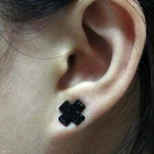 2 Pairs Mens Womens Cross Magnet Ear Studs No Piercing Magnetic Clip On Earrings