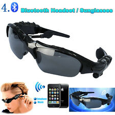 Wireless Bluetooth Headset Polarized Sunglasses Headphone Earphone +Mp3+Call Mic