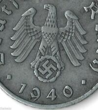 Rare Very Old Antique Hitler Germany WWII Nazi Army Swastika Collectible RP Coin