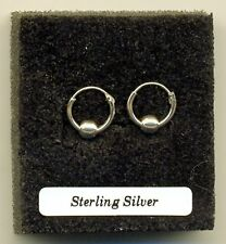 Small Silver Ball Hoops 12mm Sterling Silver 925 Earrings Pair