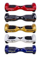 2 PERSONALISED NAME STICKERS for SWEGWAY / SELF BALANCING ELECTRIC HOVER BOARD