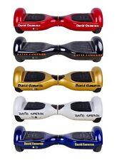 2 X Adesivi Personalizzati per elettronica skateboard o swegway un nome qualsiasi colore