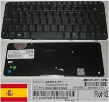 Clavier Qwerty Espagnol HP CQ20 2230S V062326BK1 483931-071 493960-071 Noir