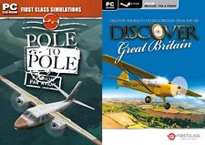 Pole to Pole & discover great britian  Add-Ons for FS 2004/FSX   new&sealed