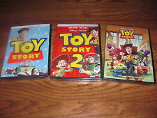 Lot of Toy Story 1,2 & 3 Disney] DVD ] Brand New; I Ship Faster
