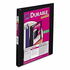 "Avery Durable 1/2"" Slant 3-Ring Binder Black Office Inch View Sheet Paper Three"