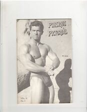 PHYSIQUE PICTORIAL Mr Olympia Larry Scott 1962 Vol 12 # 1 Original Uncirculated