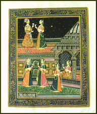 MUGHAL KING AND QUEEN MINIATURE PAINTING FROM RAJASTHAN INDIA!!