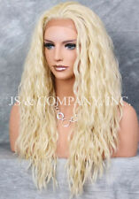 HEAT SAFE Lace Front wig Pale Blonde Spanish wavy Curly  NUO 613