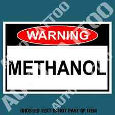 METHANOL WARNING DECAL STICKER RALLY MOTORSPORT OH&S SAFETY DECALS STICKERS JDM